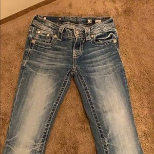 Miss me bootcut jeans regular length not hemmed